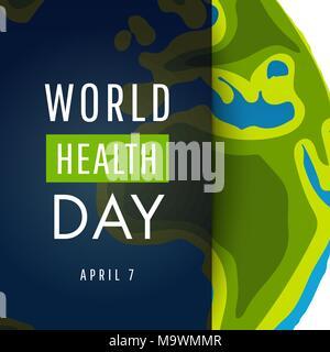 Vector Illustration de la journée mondiale de la santé concept Vector Illustration Banque D'Images