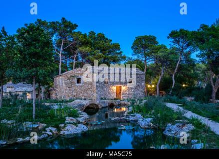 La Croatie, Dalmatie, Sibenik, Solaris Beach Resort, Ethno village dalmate Banque D'Images