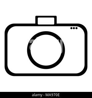 Symbole de l'icône de la conception de l'appareil photo Banque D'Images