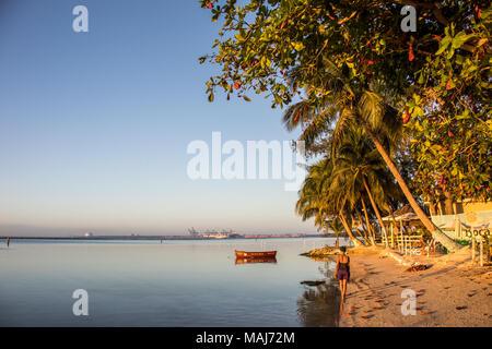 Playa Pública Boca Chica, Boca Chine, République Domnican Banque D'Images
