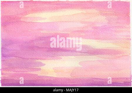 Résumé Contexte aquarelle violet jaune rouge Banque D'Images