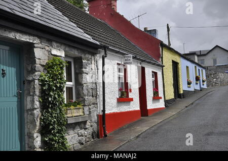 Dying Man House' de 'The Quiet Man' film, Cong, dans le comté de Mayo, Irlande Banque D'Images