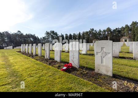 Le cimetière de guerre britannique à Becklingen, Allemagne Banque D'Images
