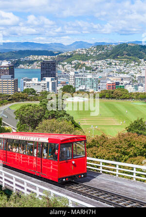 Nouvelle Zélande WELLINGTON NEW ZEALAND funiculaire de Wellington Ville Wellington Wellington New Zealand North Island Banque D'Images
