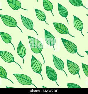 Pattens transparente verte avec des feuilles, vecteur de l'été et au printemps, fond d'écran de verdure Banque D'Images