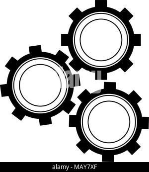 Symbole d'engrenages Banque D'Images