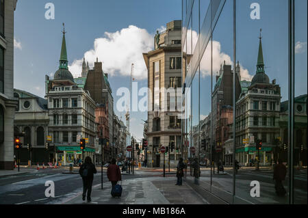 De passage à Londres, Cornhill et Leadenhall Banque D'Images