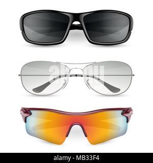 7d97115748ea48 ... Les lunettes de l homme. Vector illustration réaliste isolé sur fond  blanc Banque D