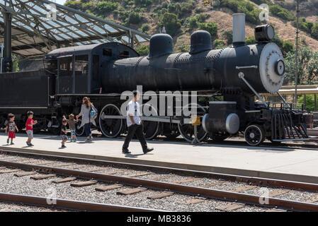Moteur à vapeur, le Musée de la ville de voyage, Griffith Park, LA, CA, USA Banque D'Images