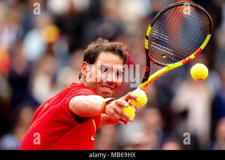 Joueur de tennis espagnol Rafael Nadal. Banque D'Images
