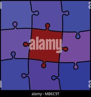 Résumé Contexte - puzzle de couleur rouge et violet Banque D'Images