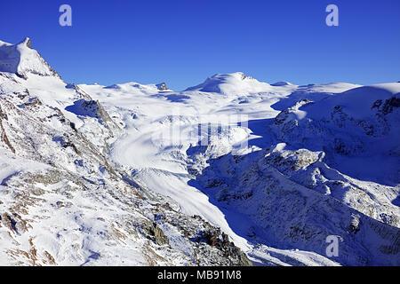 Zermatt alpin suisse sSki resort Banque D'Images