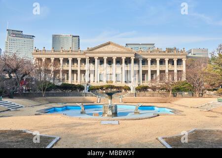 Séoul, Corée - 9 décembre 2015: Seokjojeon est un bâtiment en pierre de style occidental dans. Deoksugung Un palais Deoksugung est situé dans le centre de Séoul et Banque D'Images