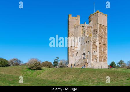 Château d'Orford Suffolk, le château du 12ème siècle bien conservé garder géré par le National Trust à Orford, Suffolk, Angleterre, RU Banque D'Images