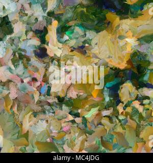 Peinture à l'huile colorée. Les coups de pinceau sur toile Banque D'Images