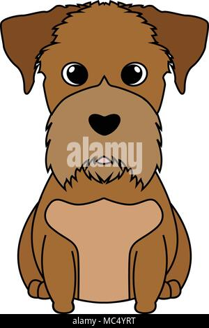 Abstract mignon chien