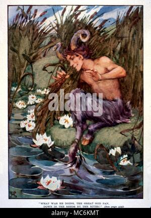 La Mythologie Grecque Le Grand Dieu Pan à Partir De La Dix