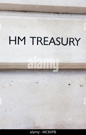 HM Treasury, Westminster, London, UK Banque D'Images