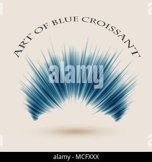 Art de fond bleu croissant. Eps10 vector Illustration Banque D'Images