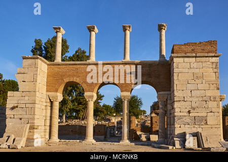 La Turquie, Izmir province, ville de Selcuk, site archéologique d'Éphèse, la Basilique Saint John Banque D'Images