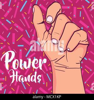 Girl power pop art Banque D'Images