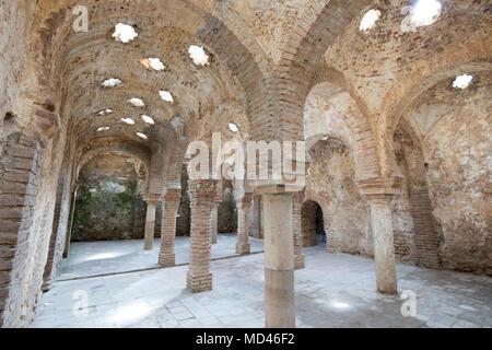 Banos Arabes bains arabes, Ronda, Andalousie, Espagne, Europe Banque D'Images