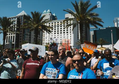 Mars pour notre vie au centre-ville d'événement national Orlando, Floride (2018).