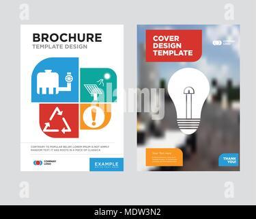 Modele De Conception De Brochure Flyer Benne Avec Resume Photo