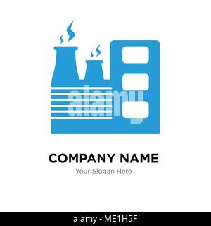 Modèle de conception de logo d'entreprise de l'usine, d'entreprise d'affaires icône vecteur