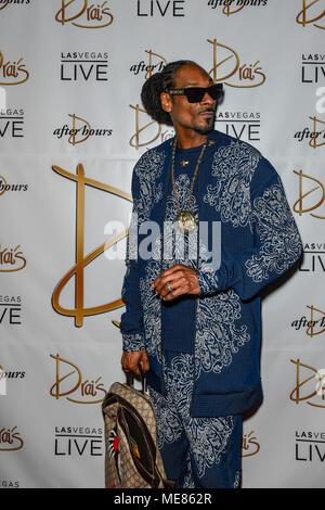 Las Vegas, NV, USA. Apr 20, 2018. Snoop Dogg à la Drai Club de nuit à Las Vegas, Nevada le 20 avril 2018. Credit: Damairs Carter/media/Alamy Punch Live News