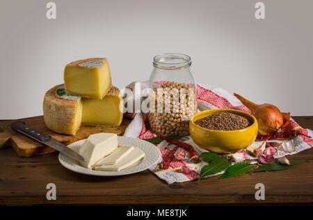 La vie toujours avec le régime alimentaire méditerranéen Banque D'Images