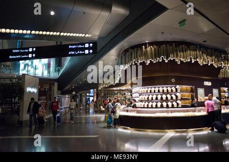 Doha Qatar Hamad International Airport terminal intérieur.