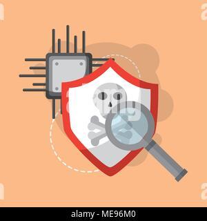 Concept de sécurité cybernétique Banque D'Images