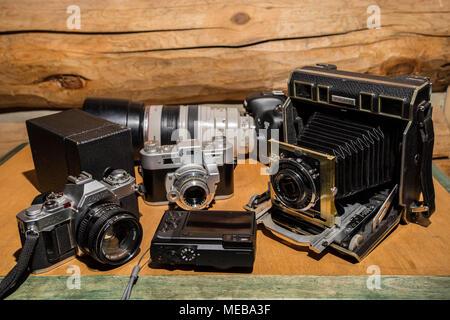 Une partie de Ma Collection de l'appareil photo Banque D'Images