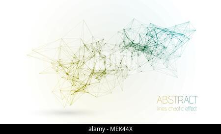 Abstract vector construction géométrique cloud ligne lignes connectées. La structure géométrique et minimaliste. Plexus graphique papier peint. La science Banque D'Images