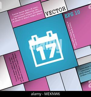 Calendrier, Date ou événement icône rappel signe. Une télévision moderne style pour votre conception. Vector illustration Banque D'Images
