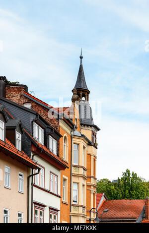 Maison colorée à Eisenach, en Thuringe, Allemagne Banque D'Images