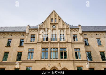 Architecture de la ville de Erfurt, Allemagne. Erfurt est la capitale de la Thuringe et de la ville a été mentionnée pour la première fois en 742 Banque D'Images