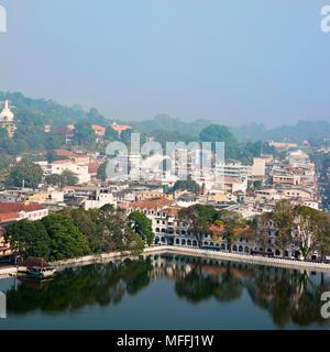 Paysage urbain carré de Kandy, Sri Lanka. Banque D'Images