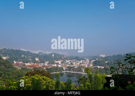 Cityscape horizontale de Kandy, Sri Lanka. Banque D'Images