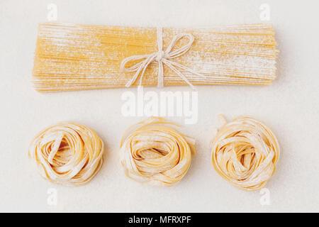 La composition des pâtes crues Banque D'Images