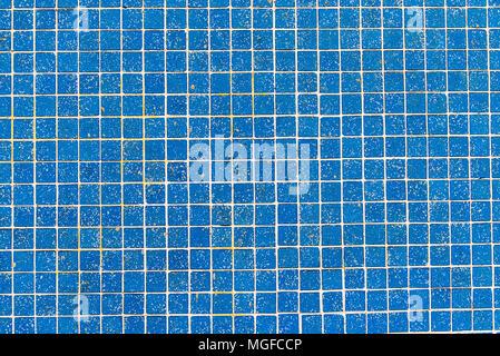 Arrière-plan de carreaux de mosaïque bleu clair Banque D'Images