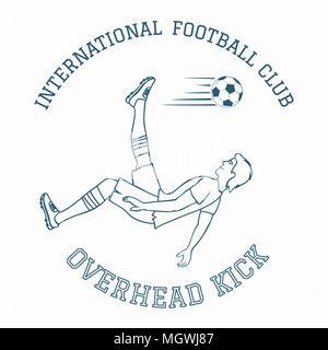 Emblème de club de football. Banque D'Images