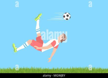Soccer overhead kick. Banque D'Images