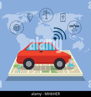Ensemble de navigation GPS icons Banque D'Images