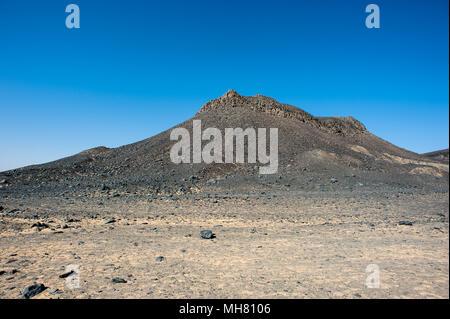 Désert Noir, Bahariya Oasis, Egypt, Africa Banque D'Images
