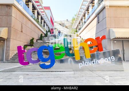 Ensemble logo - Capitale Européenne de la culture 2019 | 2019 Plovdiv Plovdiv Banque D'Images