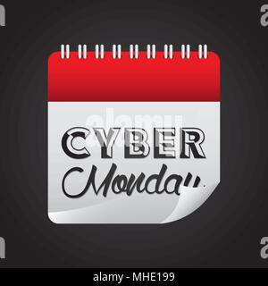 Traite du Cyber Monday Banque D'Images