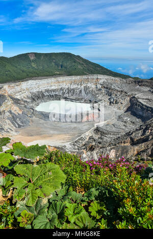 Vulcano Poas au Costa Rica