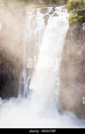 Victoria Falls, fleuve Zambèze, le Zimbabwe et la Zambie Banque D'Images